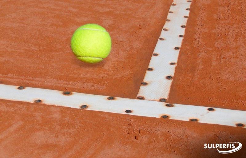 Fita demarcação de quadra de tênis